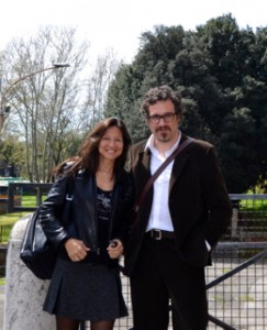 Andrea Pomella con Patrizia La Daga